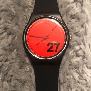 Swatch Watch - Black Silicone